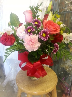 #4 Jarron chico mixto / Small mix of flowers in a vase